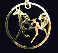 Pinto Horse Pendant on a Chain