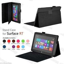 STAND FOLIO LEATHER CASE COVER HOLDER FOR Microsoft Surface 2 RT 10.6 Windows 8