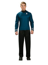 Adult Licensed Mr Spock Fancy Dress Costume Blue Star Trek Enterprise BN