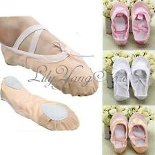 New Child Girl Soft Women Canvas Fitness Ballet Dance Gymnastics Slippers Shoes