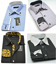 Mens Casual And Formal Shirts Italian Shirt Double Collar Outlet Sale Clearance