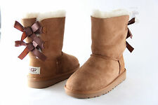 UGG Australia Bailey Bow Toddler (Baby) 3280T Chestnut 100% Authentic Brand New
