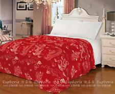 Euphoria Soft Plush Throw Blanket Lucky China Red Phoenix Dragon Queen King