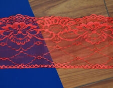 2 Yard Embroidered Net Lace Trim Ribbon a variety of colors ,Wide 5.1 Inch