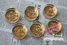 Retro Valentine Love Miss You Blessings Crystal Round Stamp