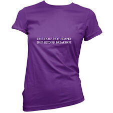 One Does Not Simply Skip Second Breakfast - Womens / Ladies T-Shirt - Funny