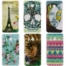 Tower Face Skull Image Hard Back Cover Case for Huawei Ascend Y300 U8833 T8833