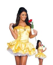 Belle Princess Ladies Sexy Fancy Dress Costume 6 8 10 12 Fairy Tale hen outfit