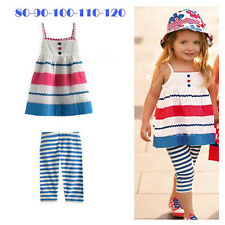 Kids Baby Girl 2pcs Dress+Pants Set Outfit Costume Clothes 2-5Y