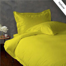 NEW YELLOW 800TC EGYPTIAN COTTON COMPLETE BEDDING COLLECTION ALL SIZE SHEET