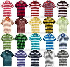 AEROPOSTALE MENS POLO SHIRT TOP T-SHIRT STRIPED A87 LOGO NWT TEE BUTTONS COLLAR