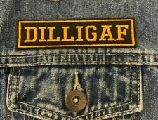 DILLIGAF BIKER TRIKER EMBROIDERED SEW ON PATCH