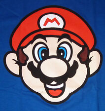 Nintendo Super Mario Bros. T-shirt New Adult Tee Blue S-2XL New