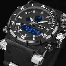Luminous INFANTRY Mens Sport Dual Quartz LCD Digital Army Wrist Watch Waterproof