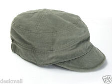 New Brand Military Cap Hemp and Cotton Cadet Army Hat Unisex Adjustable Band US