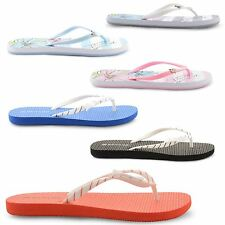 NEW LADIES DUNLOP FLAT TOE POST FLIP FLOPS BEACH SUMMER SANDALS UK SIZE 3-8