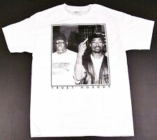 TUPAC BIGGIE TRUST NOBODY T-shirt NOTORIOUS B.I.G 2PAC Tee Adult S-2XL White New