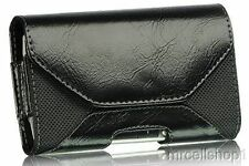 New Black Luxmo Horizontal Leather Belt Clip Holster Pouch Case for Cell Phones