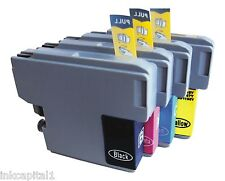 4 x Inkjet Cartridges Compatible Replacements For Brother LC123 - B,C,M & Y