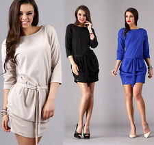 Kleid Minikleid Longshirt Top, in 3 Farben, Gr. 36 38 40 42 S M L XL, M67
