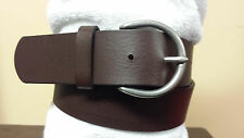 New GAP Womens Brown Pu Coated Split Leather Belt 617945