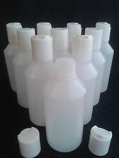 3 - 250  x  100 ml Disc top lid bottle  Ideal make up / hobby / craft / travel