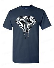 Bleeding Melting Dripping Camouflage Diamond T-SHIRT Fashion trendy Black&White