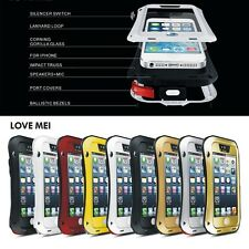 NEW LOVE MEI Shock/Water Proof Aluminum Metal Case Cover for iphone 4 4S 5 5S