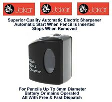 Jakar Electric Automatic Pencil Sharpener Battery Powered Operated Single 5154