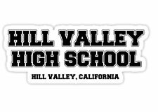A5 BACK TO THE FUTURE, bttf, A5 or A4  HILL VALLEY HIGH SCHOOL  T-shirt transfer