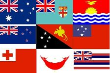 Countries of Oceania Flags, Tonga Fiji & more A5 or A4. iron on T-shirt Transfer