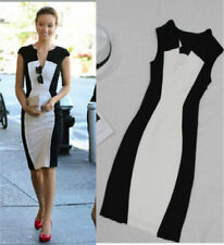 WOMENS DRESSES SIZE 6 7  8 9 10 12 14 16 BLACK WHITE OFFICE EVENING PARTY DRESS