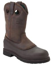 "Georgia Men's Mud Dog 11"" Pull-On Comfort Sole Wellington Work Boots G5514"
