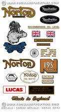 Norton 16H 18 19R 19S -RESTORERS DECAL SETS- 1945-58: Variations for all Models