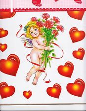 Decorative Valentine's Day Cherub Wall Decals  Churbs Hearts & Bouquet Of Roses