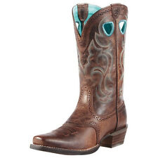 Ariat Ladies Rawhide Square Toe Western Boots - sassy brown