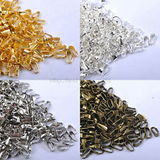 200pcs SILVER, BRONZE & GOLD PLATED & SPRING BAILS 7MM Pendant Findings