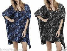 LADIES WOMANS SUMMER HOLIDAY BEACH TUNIC KAFTAN TOP COVER UP PLUS SIZE 18-32 UK