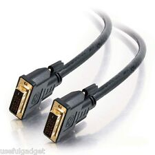 5 Feet DVI DVI-D Dual Link 24+1 Male to Male Cable Adapter in Black lot