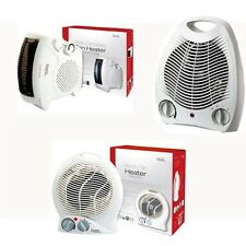 NEW PORTABLE ELECTRIC FAN HEATER HOT / COOL SILENT BLOW WHITE BOX 1000W / 2000W
