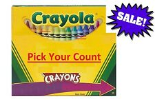 Crayola Crayon Color Pack Crayons Count Box, Pick Your Count - Free Shipping