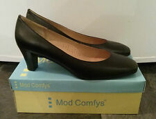 Mod Comfys Ladies Leather Medium Heel Cushioned Court Shoes - NEXT DAY DESPATCH