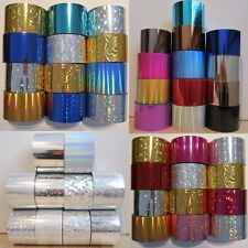 Colours Nail Art Transfer Foil glitzy Craft Adhesive Acrylic Gel Decoration
