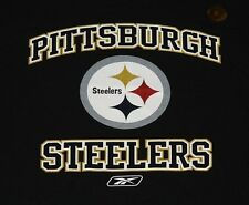 Pittsburgh Steelers Reebok Black T-Shirt Officially Licensed NFL Tee