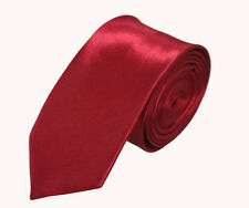 British Style Mens Party Solid Plain Slim Narrow Lot Skinny Neck Ties 2 inch JDC