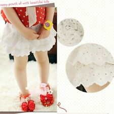 New Lovely Toddler Girls Lace Lined Multilayer Short Skirts Pants 2-7 Y P153