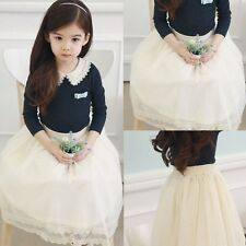 Toddlers Girls High Quality Charming Tulle And Lace Multi-Layer Skirt 2-7 Y D552
