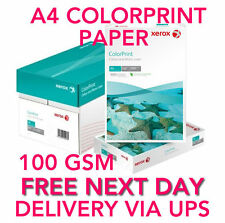 A4 Box (4 Reams) 100gsm Paper ColorPrint Xerox 2000 sheets BOX FREE Delivery!
