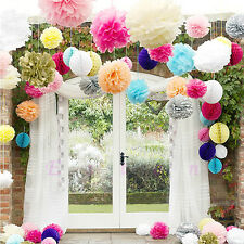 Hot 5-Sizes Tissue Paper Pom-Poms Flower Ball Wedding Party Outdoor Decoration