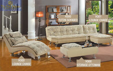 H300 Modern Sectional sofa couch Lounge Chaise 4 pc Living room set w/ ottoman